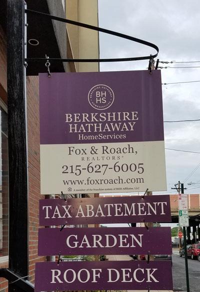 full real estate sign