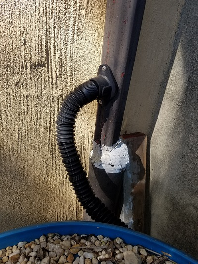 rain barrel connection
